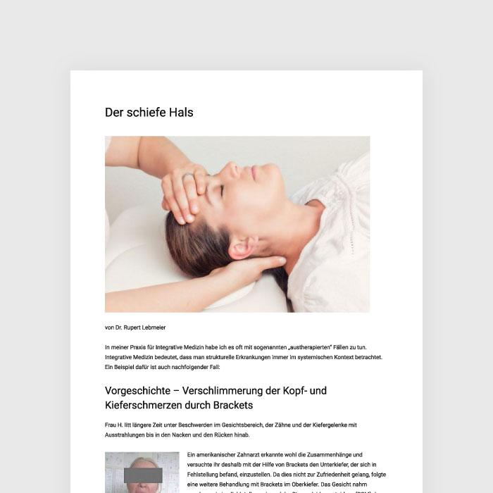 Artikel Der Schiefe Hals