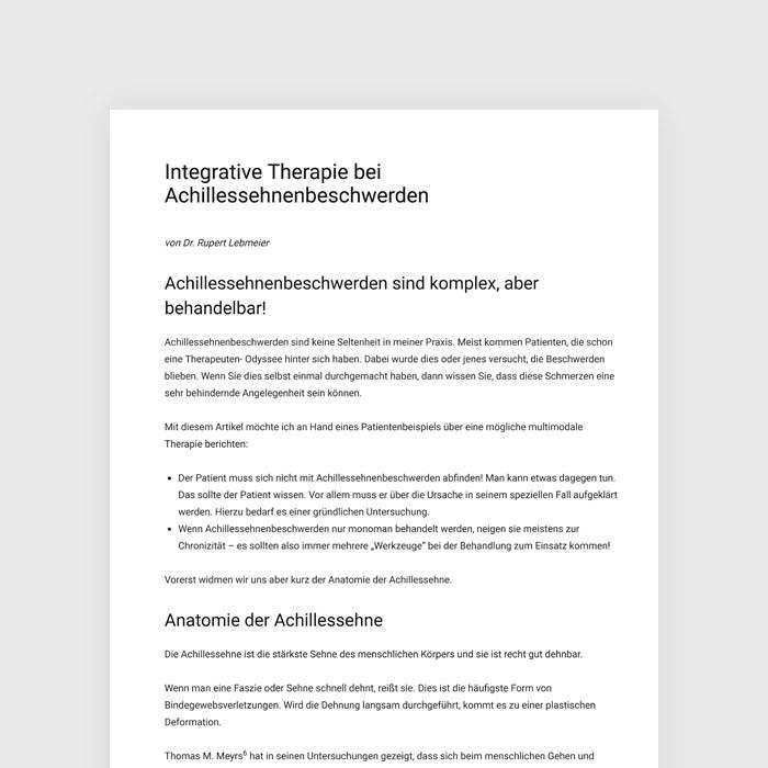 Integrative Therapie bei Achillessehnenbeschwerden