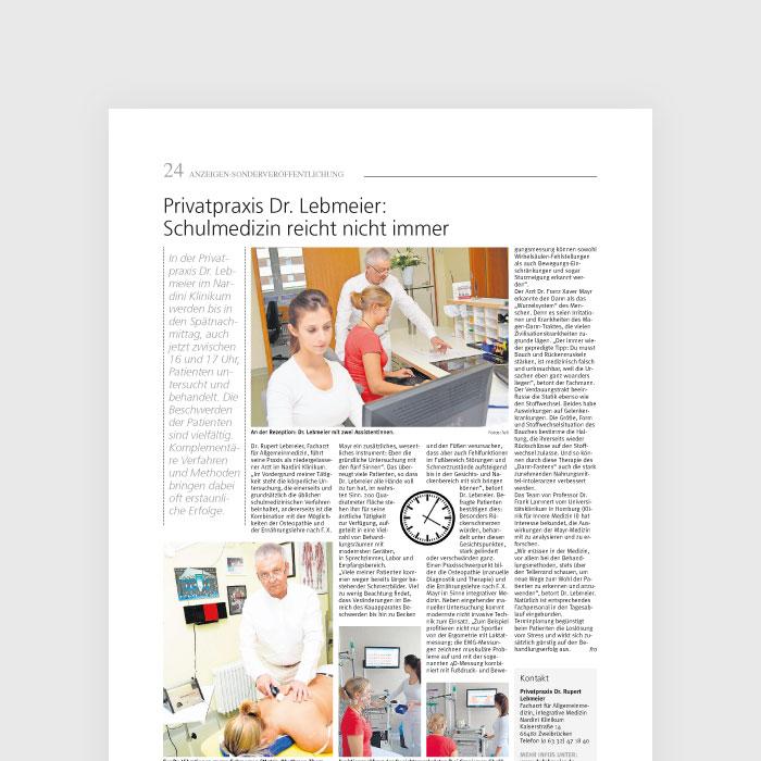 Privatpraxis Dr. Lebmeier: Schulmedizin reicht nicht immer
